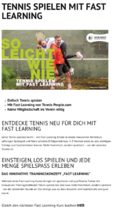 Tennis Fast Learning